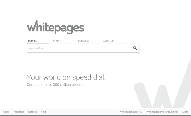 Revision of Whitepages Free